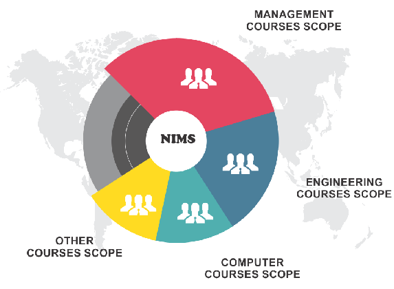 nims - mba, engineering and computers comparison chart